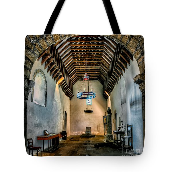 Priory Church Of St Seiriol Tote Bag by Adrian Evans