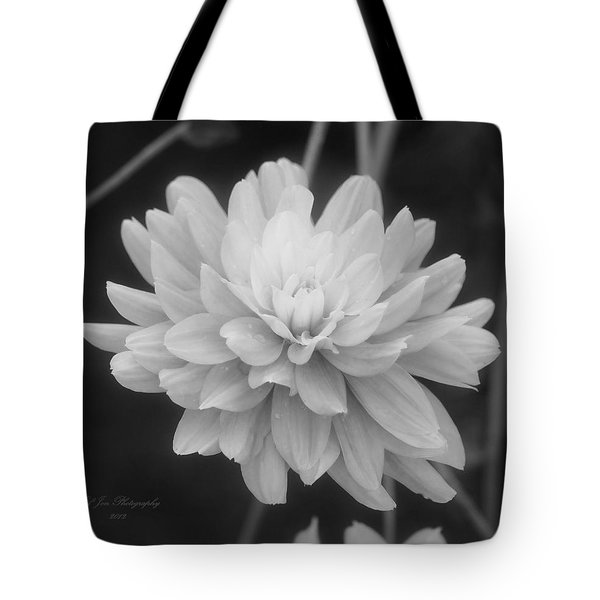Prissy In Black And White Tote Bag by Jeanette C Landstrom