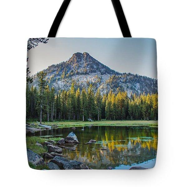Pristine Alpine Lake Tote Bag by Robert Bales