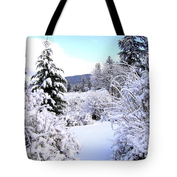 Pristine Winter Trail Tote Bag by Will Borden