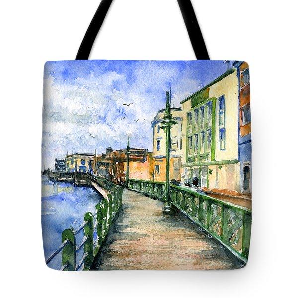Promenade In Barbados Tote Bag by John D Benson
