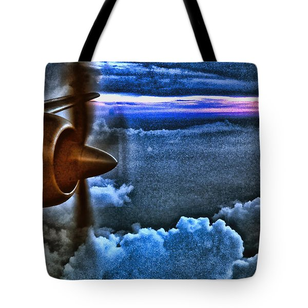 Propeller Sunrise Hdr Tote Bag by Bellesouth Studio