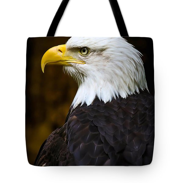 Proud Eagle Profile Tote Bag by Athena Mckinzie