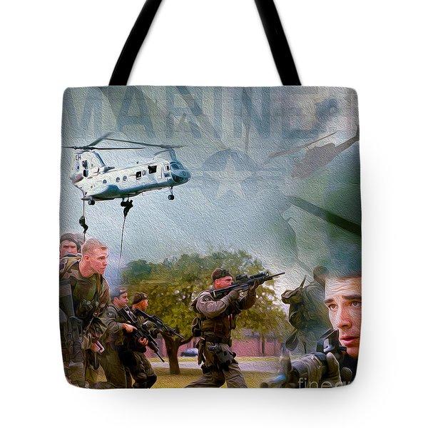 Proud To Serve Tote Bag by Jon Neidert