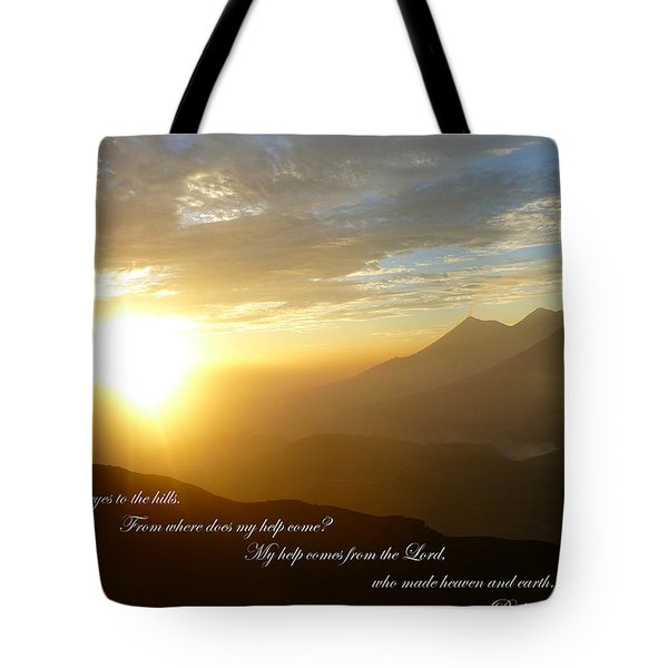 Psalm 121 1 2 C Tote Bag by Nicki Bennett
