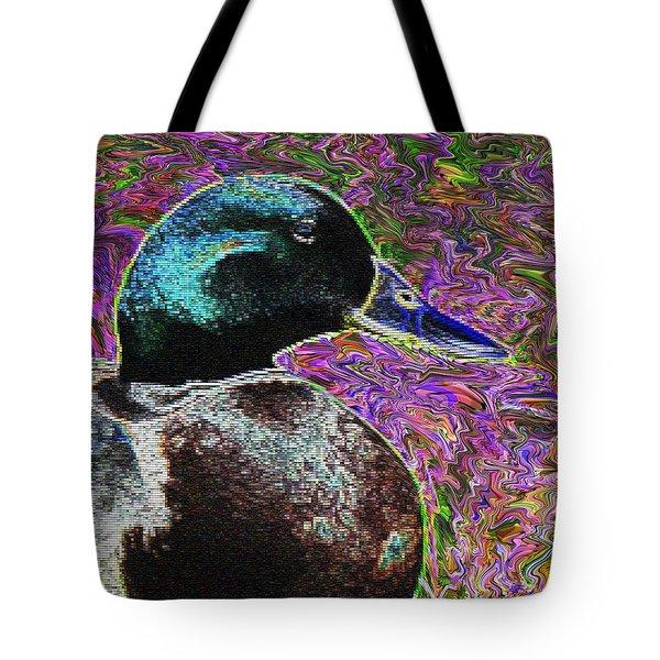 Psychedelic Anatidaephobia Tote Bag by Lisa Brandel
