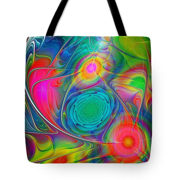 Psychedelic Colors Tote Bag by Anastasiya Malakhova
