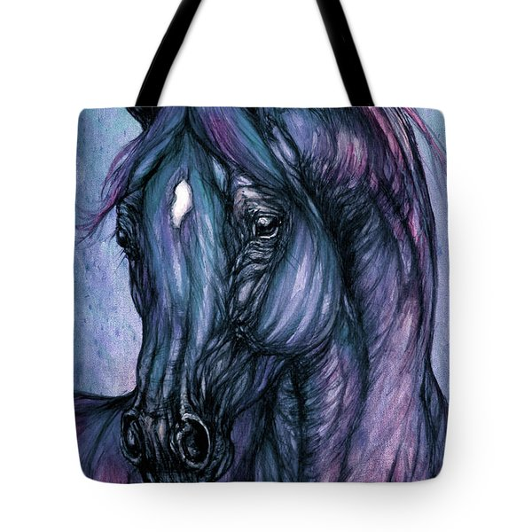 Psychodelic Deep Blue Tote Bag by Angel  Tarantella