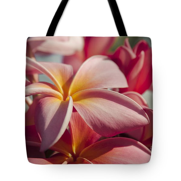 Pua Melia Ke Aloha Maui Hikina Tote Bag by Sharon Mau