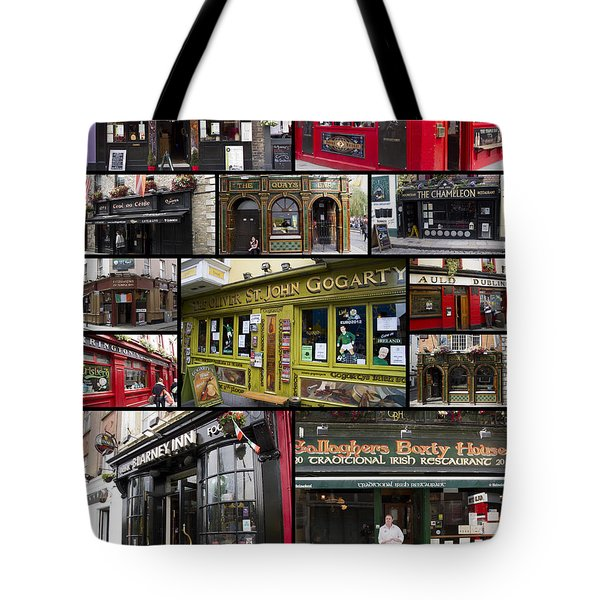Pubs Of Dublin Tote Bag by David Smith