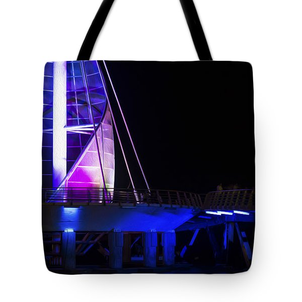 Puerto Vallarta Pier Tote Bag by Aged Pixel