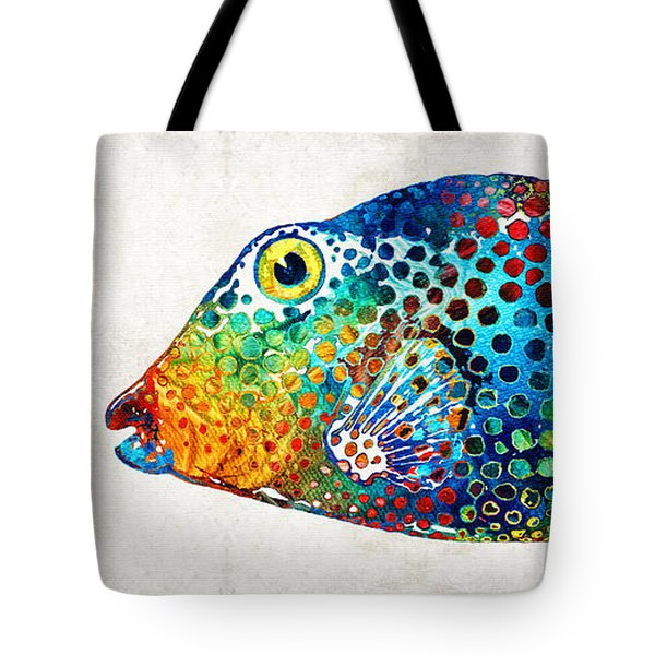 Puffer Fish Art - Puff Love - By Sharon Cummings Tote Bag by Sharon Cummings