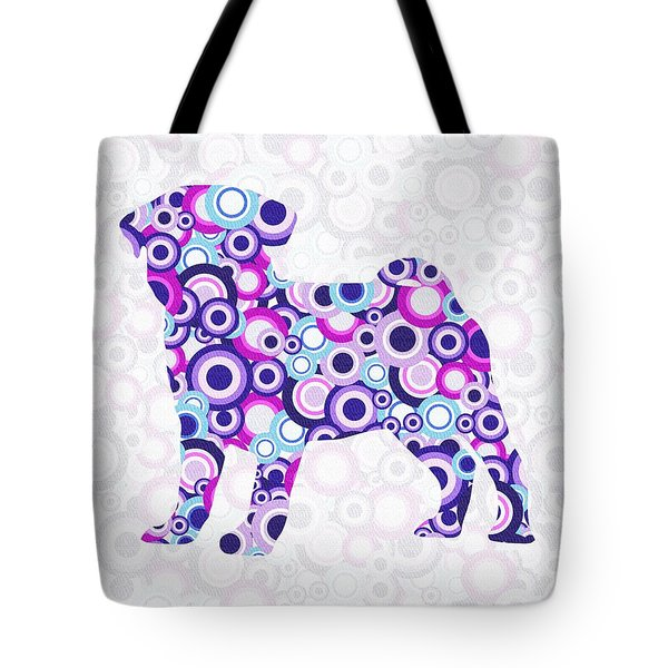 Pug - Animal Art Tote Bag by Anastasiya Malakhova