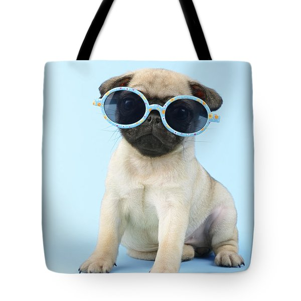 Pug Cool Tote Bag by Greg Cuddiford