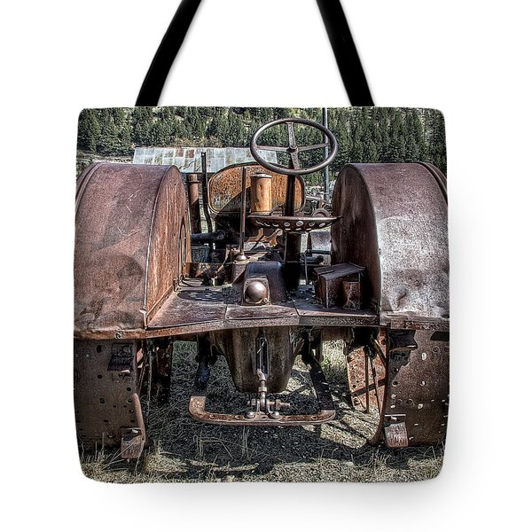 Pulling End Of Mccormick-deering Tractor Tote Bag by Daniel Hagerman