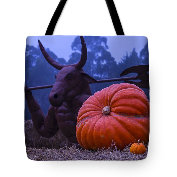 Pumpkin And Minotaur Tote Bag by Garry Gay