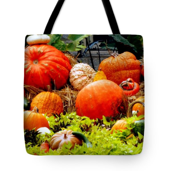 PUMPKIN HARVEST Tote Bag by KAREN WILES