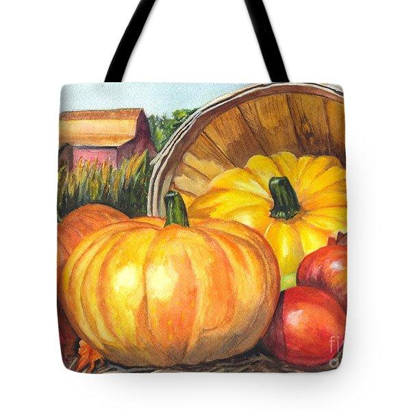 Pumpkin Pickin Tote Bag by Carol Wisniewski