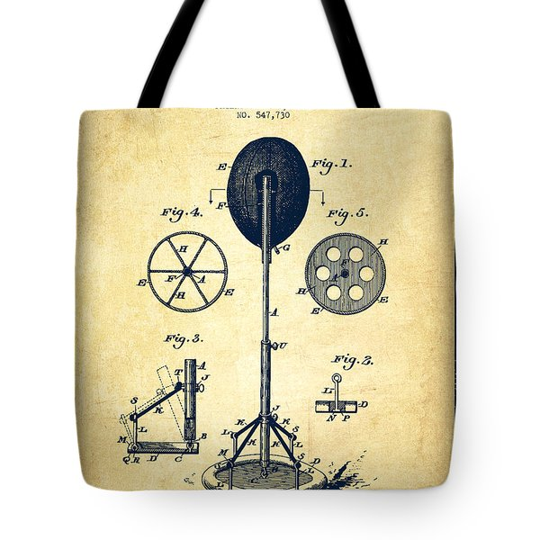 Punching Apparatus Patent Drawing From 1895 -vintage Tote Bag by Aged Pixel