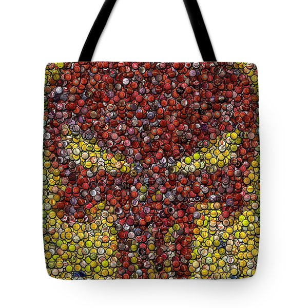 Punisher Bottle Cap Mosaic Tote Bag by Paul Van Scott