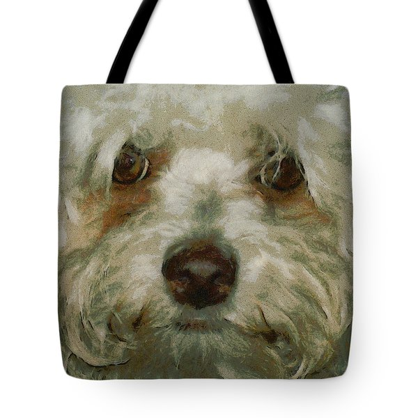 Puppy Eyes Tote Bag by Ernie Echols