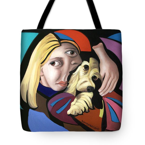 Puppy Love Tote Bag by Anthony Falbo