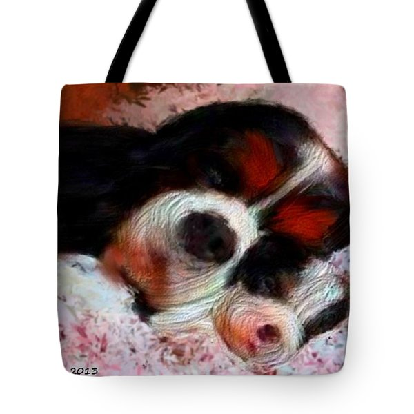 Puppy Love Tote Bag by Bruce Nutting