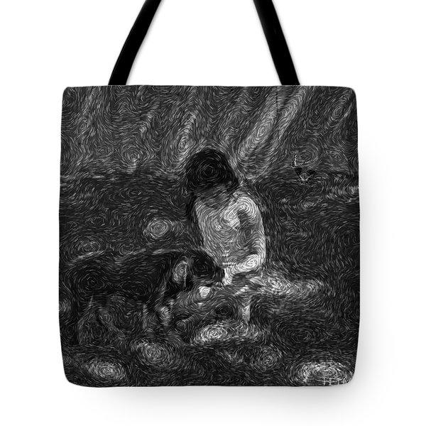 Puppy Love Tote Bag by Mayhem Mediums