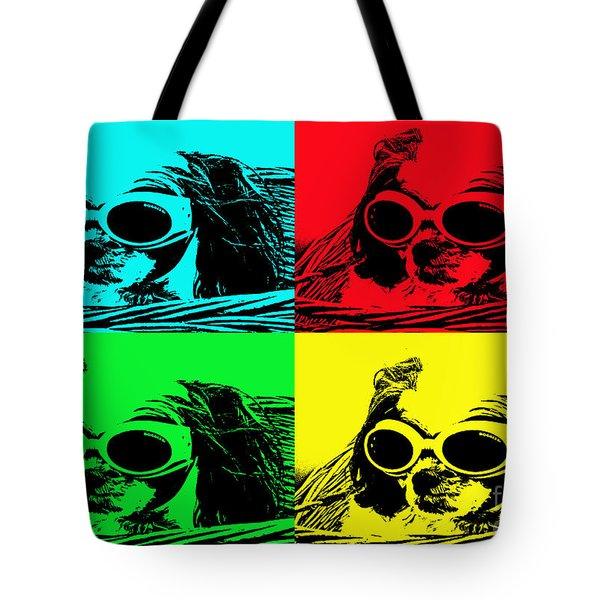 Puppy Mania Pop Art Tote Bag by Ella Kaye Dickey