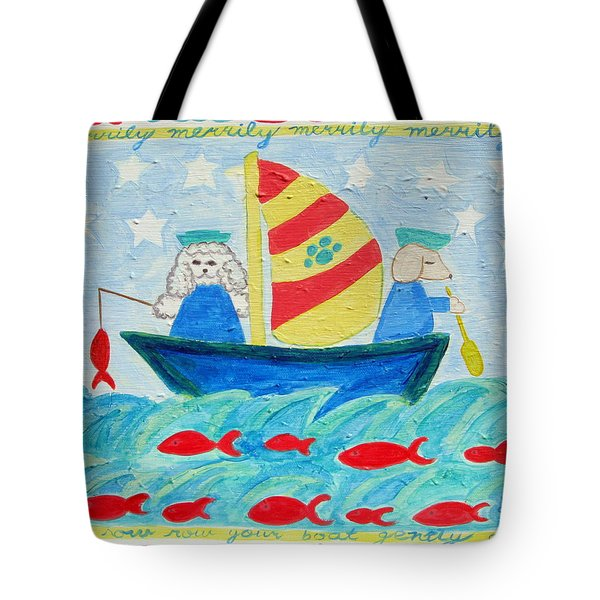 Puppy Sailors Tote Bag by Diane Pape