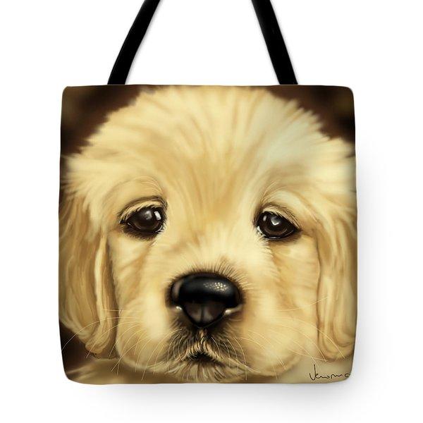 Puppy Tote Bag by Veronica Minozzi