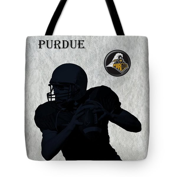 Purdue Football Tote Bag by David Dehner