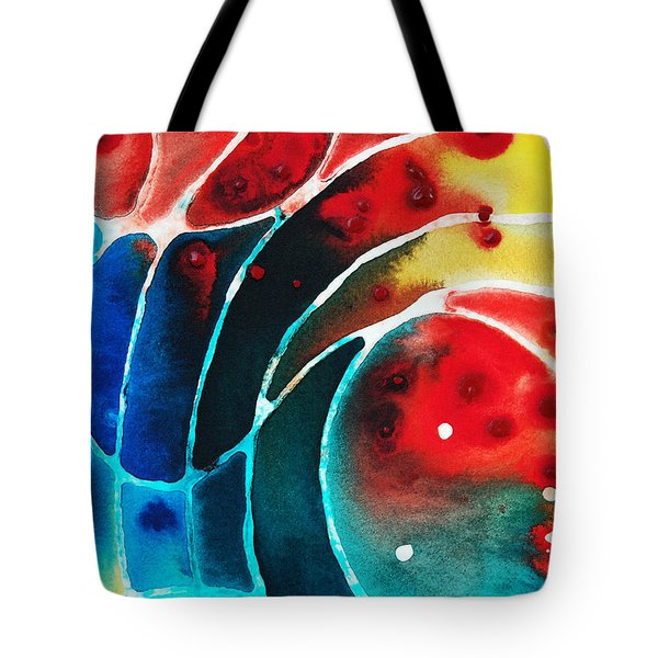 Pure Joy 2 - Abstract Art By Sharon Cummings Tote Bag by Sharon Cummings