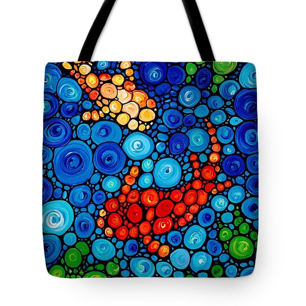 Pure Koi Joi Tote Bag by Sharon Cummings