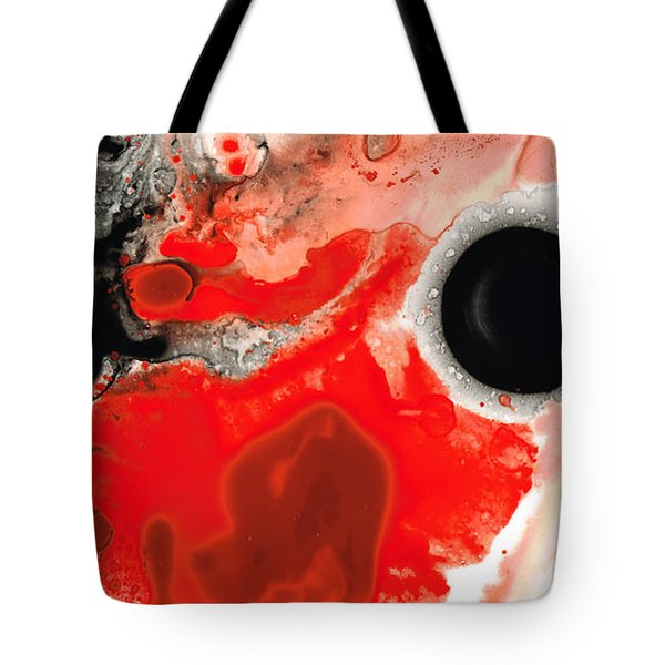 Pure Passion - Red And Black Art Painting Tote Bag by Sharon Cummings