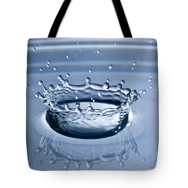 Pure Water Splash Tote Bag by Anthony Sacco
