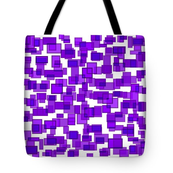Purple Abstract Tote Bag by Frank Tschakert