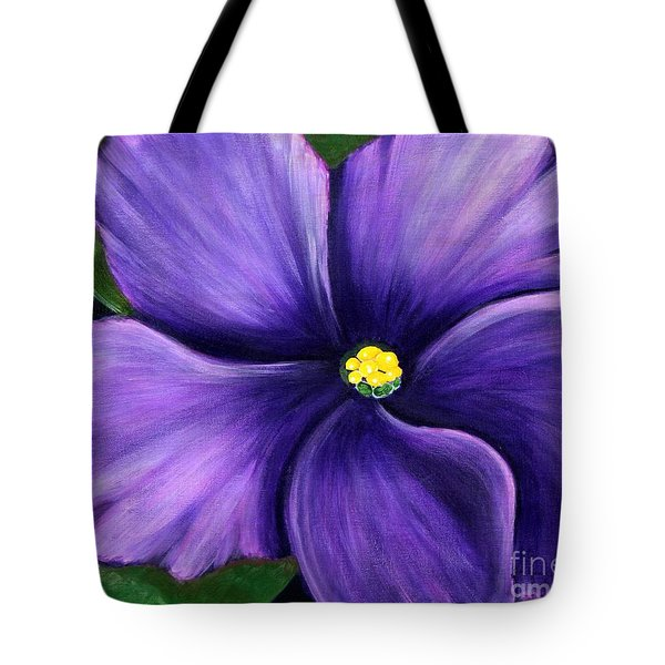 Purple African Violet Tote Bag by Barbara Griffin