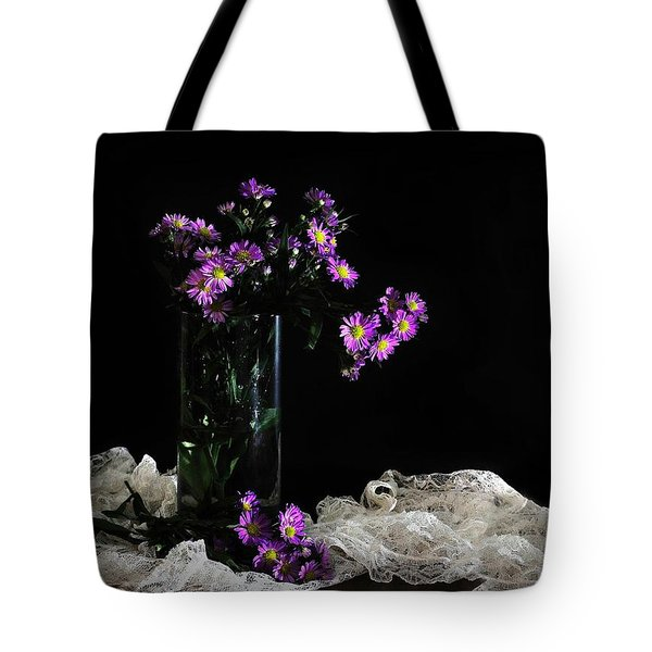 Purple and Lace Tote Bag by Diana Angstadt