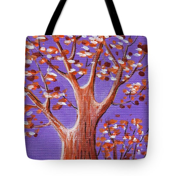 Purple And Orange Tote Bag by Anastasiya Malakhova