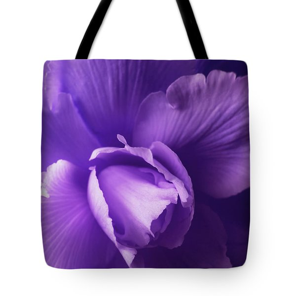 Purple Begonia Flower Tote Bag by Jennie Marie Schell