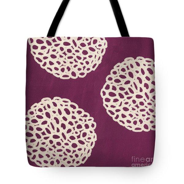 Purple Garden Bloom Tote Bag by Linda Woods