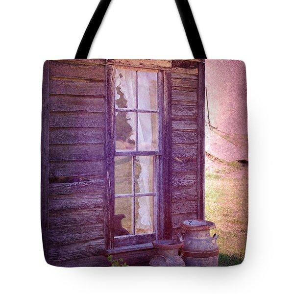 Purple Haze On The Prairie Tote Bag by Judy Hall-Folde