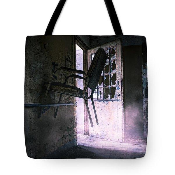 Purple Haze - Strange scene in an abandoned psychiatric facility Tote Bag by Gary Heller