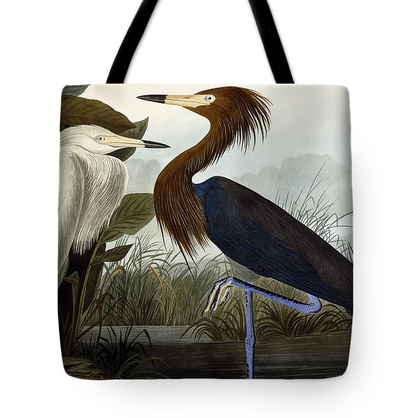 Purple Heron Tote Bag by John James Audubon