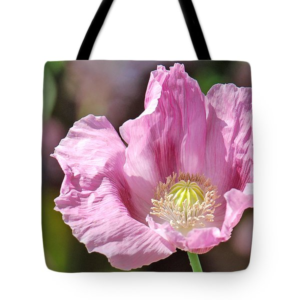 Purple Iceland Poppy Tote Bag by Suzanne Gaff