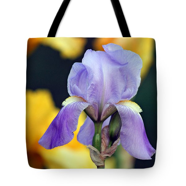 Purple Iris Tote Bag by Karen Adams