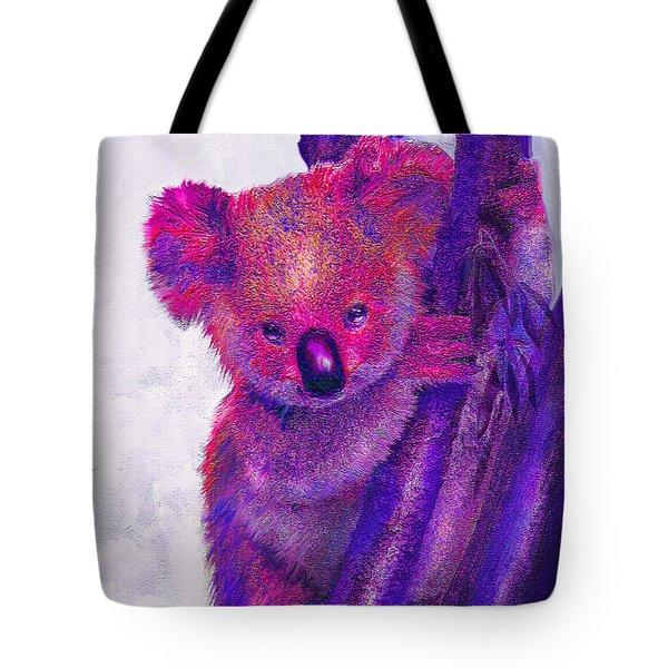 Purple Koala Tote Bag by Jane Schnetlage