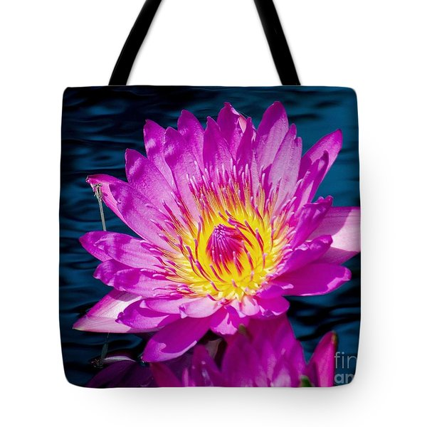 Purple Lily on the water Tote Bag by Nick Zelinsky