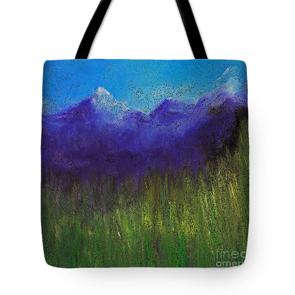 Purple Mountains By Jrr Tote Bag by First Star Art